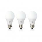 Nedis WiFi Smart LED-lampor E27 - Varmt till kallt vitt, 3-pack