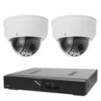 Övervakningspaket i 4K dome inom- och utomhus, 2 kameror