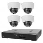 Övervakningspaket i 4K dome inom- och utomhus, 4 kameror