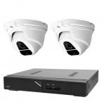 Övervakningspaket i Full HD dome inom- och utomhus, 2 kameror