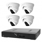 Övervakningspaket i Full HD dome inom- och utomhus, 4 kameror