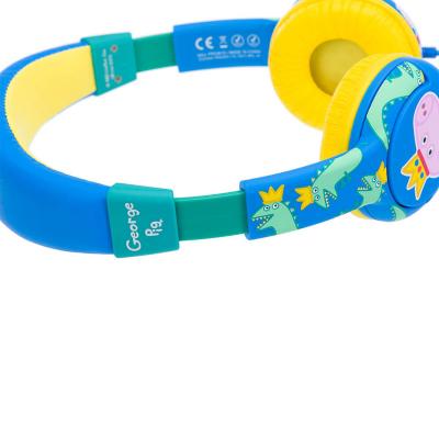 Prins George Hörlur Junior, On‑Ear, 85dB, gul/blå