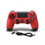 PS4 DoubleShock 4 handkontroll med kabel, röd