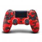 PS4 DualShock 4 Bluetooth trådlös handkontroll, camo röd