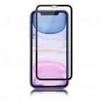Panzer Premium skärmskydd till iPhone XR/11, härdat glas, svart