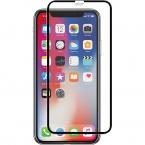 Full-Fit Skärmskydd, iPhone X/XS, 0,33mm, äkta glas, Panzer