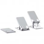 Vikbart ställ för mobiler och surfplattor, silver