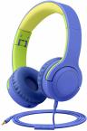 Picun Q2 Trådbundna barnhörlurar, 3.5mm, blå/grön