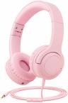 Picun Q2 Trådbundna barnhörlurar, 3.5mm, rosa