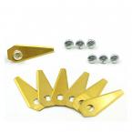 Robotgrässknivar till Bosch Indego, 30-Pack, guld