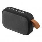 STREETZ Bärbar Bluetooth-högtalare, USB/TF/AUX/FM, svart