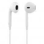 STREETZ Semi-In-Ear hörlurar med mikrofon, 3.5 mm, vit
