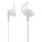 STREETZ Stay-In-Ear sporthörlurar med mikrofon, 3.5 mm, vit