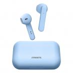 STREETZ Trådlösa Semi-In-Ear hörlurar med etui, TWS, blå