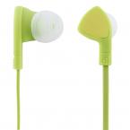 STREETZ Trasselfria In Ear-hörlurar med mikrofon, 3.5 mm, grön
