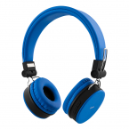 STREETZ Vikbart On Ear-hörlurar, Bluetooth, 3.5 mm, blå