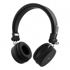 STREETZ Vikbart On Ear-hörlurar, Bluetooth, 3.5 mm, svart