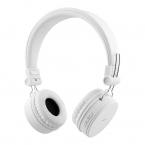STREETZ Vikbart On Ear-hörlurar, Bluetooth, 3.5 mm, vit
