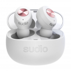 Sudio Tolv, In-Ear hörlurar, Bluetooth 5.0, vit