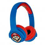 Super Mario trådlös Hörlur Junior, On-Ear, 85dB, blå/röd