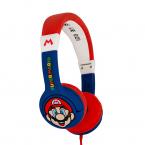 Super Mario Hörlur Junior, On-Ear, 85dB, blå/röd
