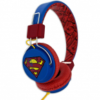 Superman Hörlur Tween, On-Ear 110dB, röd/blå