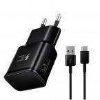Laddare EP-TA20EBE + MicroUSB kabel, snabbladdning