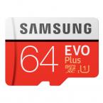 64GB Samsung EVO Plus MicroSDXC med SD-adapter, 100MB/s