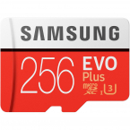 256GB Samsung EVO Plus MicroSDXC med SD-adapter, 100MB/s