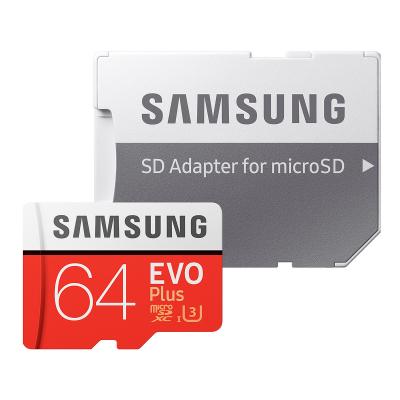 Samsung EVO Plus microSDXC 100MB/s med SD‑adapter, 64GB