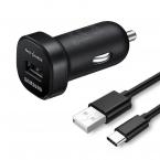 Samsung original billaddare EP-LN930 + EP-DW700CBE USB-C kabel