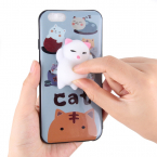 Skal med Squish, kattmotiv vit, iPhone 7/8