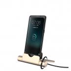 Snabbladdare/docka till Android, iPhone och USB-C, guld