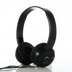 Trådbundna On Ear-hörlurar med söt design, svart