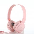 Trådbundna On Ear-hörlurar med söt design, rosa