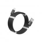SuperCalla Magnetisk MicroUSB-kabel, 0.9m, svart