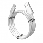 SuperCalla Magnetisk MicroUSB-kabel, 2A, 1.8m, vit