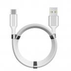 SuperCalla Magnetisk USB-C kabel, 2A, 0.9m, vit