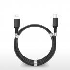 SuperCalla Magnetisk USB-C till Lightning kabel, 2A, 0.9m, svart