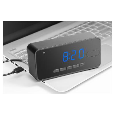Technaxx Skrivbordsklocka med rörelsedetektion, HD‑kamera, svart