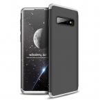 3-delat skal till Samsung Galaxy S10, silver/svart