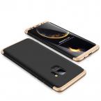 3-delat skal till Samsung Galaxy S9 Plus, svart/guld