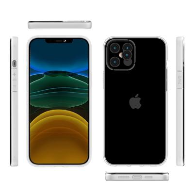 Genomskinligt TPU+PC‑skal till iPhone 12/12 Pro