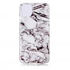 Trendigt marmorskal med mönster, iPhone 11 Pro Max, vit