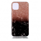 Trendigt marmorskal med mönster, iPhone 11 Pro, brun/svart