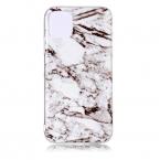 Vackert TPU-skal med marmormönster till iPhone 11 Pro, vit