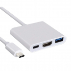 USB-C till HDMI 3-i-1 USB-Adapter, PD (Power Delivery)