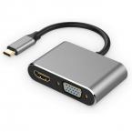 USB-C till HDMI och VGA Adapter
