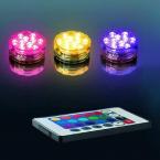 Undervattens LED-belysning med fjärrkontroll, 16 färger