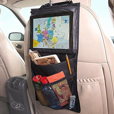 Universal iPad‑hållare för bilens baksäte med flera fack